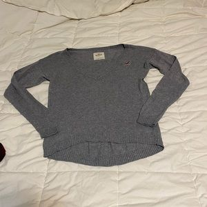 Grey Soft Knit Hollister Sweater - Size Small